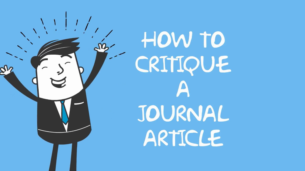 How to Critique a Journal Article